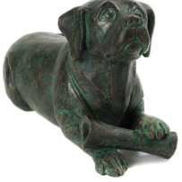 Cast Dog & Bone (Bronze Finish)